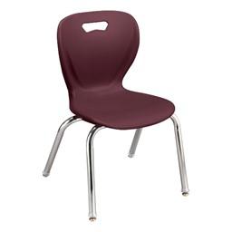 Shape Series School Chair - Wine