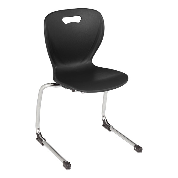 "Shapes Series Cantilever School Chair (16"" H) - Black"