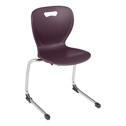 "Shapes Series Cantilever School Chair (16"" H) - Eggplant"