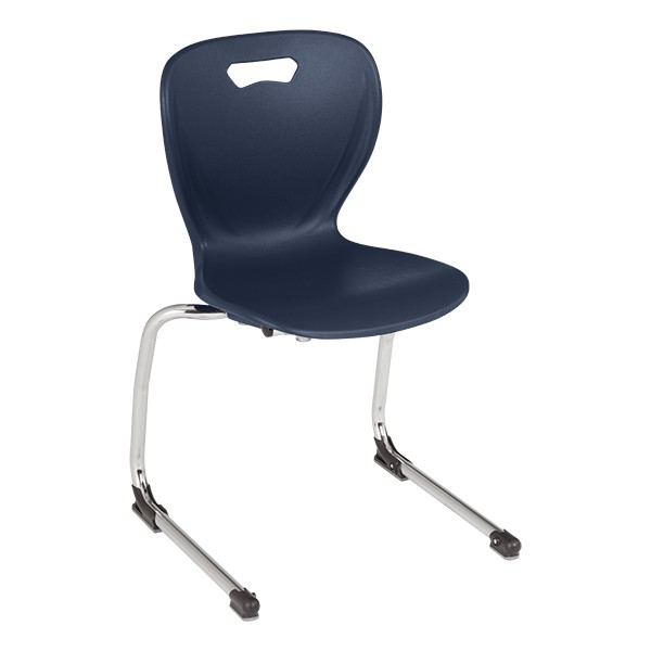 "Shapes Series Cantilever School Chair (16"" H) - Navy"