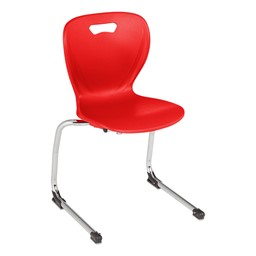 "Shapes Series Cantilever School Chair (16"" H) - Red"