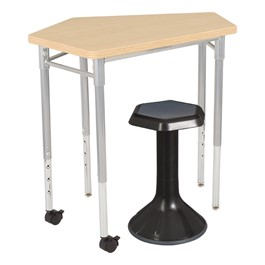 "CommunEDI Collaborative Desk & 18"" Active Learning Stool Set"