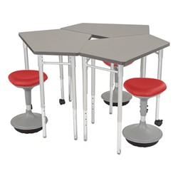 CommunEDI Collaborative Desk w/ Active Learning Stools - Stools not included