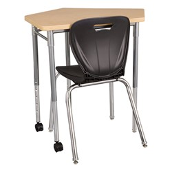 CommunEDI Collaborative Desk w/ Shape Series Chair - Chair not included