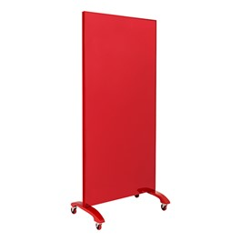"Double-Sided Tempered Glass Partition (36"" L x 60\"" H) - Red"
