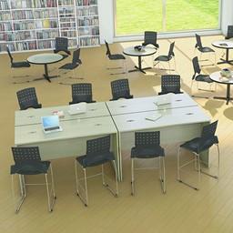 Ballard Plastic Stack Cafeteria Chair - Environmental Rendering