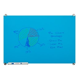 Colored Glass Magnetic Dry Erase Board - Blue