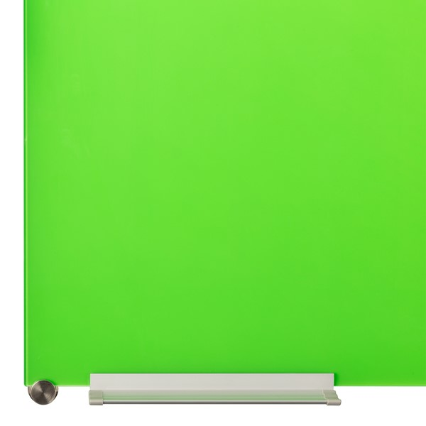 Colored Magnetic Glass Dry Erase Board - Green
