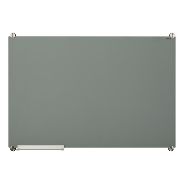 Colored Glass Magnetic Dry Erase Board - Gray