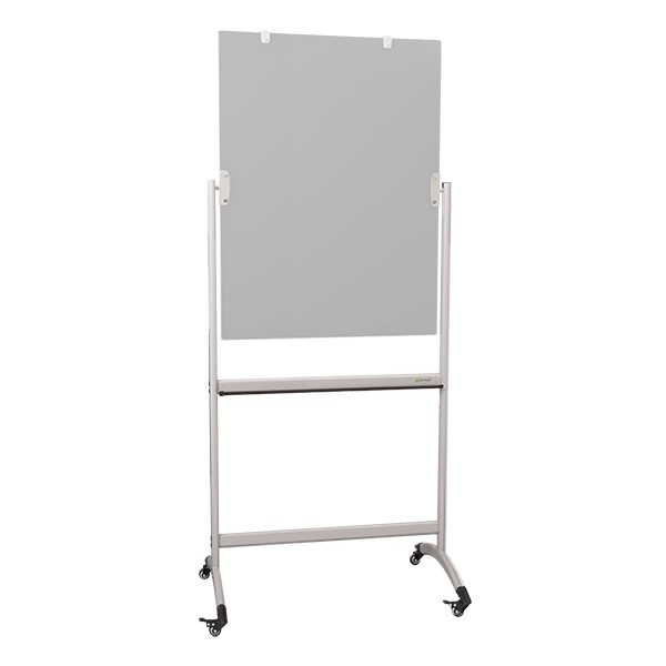 "Double-Sided Mobile Dry Erase Glass Easel - (30"" W x 40"" H)"