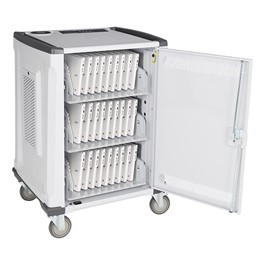 33-Device Deluxe Charging Cart w/ Round Robin - Open