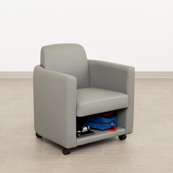 Antimicrobial Lounge Chair w/ Storage