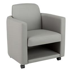 Antimicrobial Lounge Chair w/ Storage - Gray