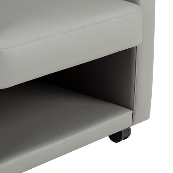Antimicrobial Lounge Chair w/ Storage - Storage Detail