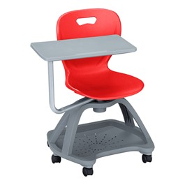 Shape Series Mobile Tablet Arm Chair - Red