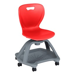 Shape Series Mobile Chair - Red
