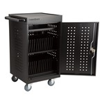 Structure Series 30-Device Tablet Charging Cart w/ Electric - Open