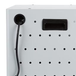 Shapes Series 12-Device Wall-Mount Chromebook, Laptop and Tablet Charging Cabinet - Grommet