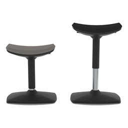 Adjustable-Height Active Stool w/ Saddle Seat