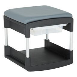 Shapes Series Two-in-One Rock or Roll Stool - Shown w/ Bin
