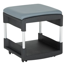 Shapes Series Two-in-One Rock or Roll Stool - Shown w/ Casters