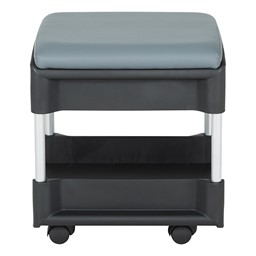 Shapes Series Two-in-One Rock or Roll Stool - Side - Shown w/ Casters
