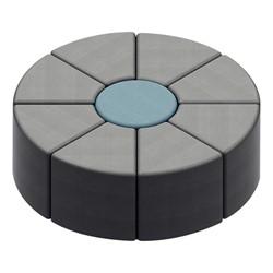 Shapes Series II Vinyl Soft Seating - Cylinder (blue crosshatch) - Wedge (gray crosshatch)