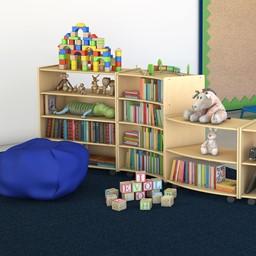 Solid Color Classroom Rug - Environmental Shot