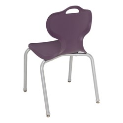Boomerang Collaborative Desk w/o Wire Box and 18-Inch Profile Series School Chair - Chair - Back
