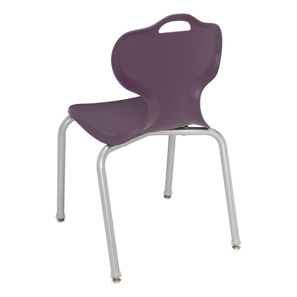 Adjustable-Height Y-Frame Desk and 18-Inch Profile Series School Chair Set - Chair - Back