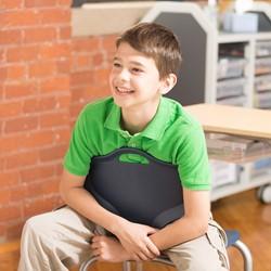 Boomerang Collaborative Desk w/o Wire Box and 18-Inch Profile Series School Chair