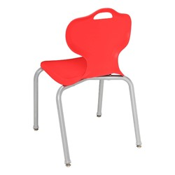 Trapezoid Collaborative Desk and 18-Inch Profile Series School Chair Set - Chair - Back