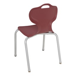 Adjustable-Height Y-Frame Two-Student Desk and 18-Inch Profile Series School Chair Set - Chair - Back