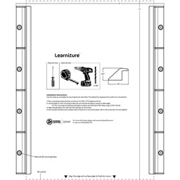 Rail Kit for Activity Tables & Desks - Installation