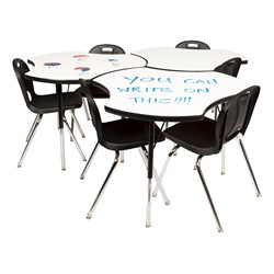 Cog Collaborative Table w/ Whiteboard Top - Group