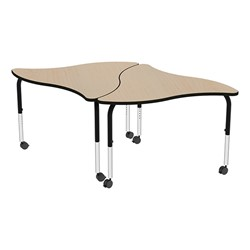 Shapes Series Triangular Wave Collaborative Table w/ HPL Top - Grouped