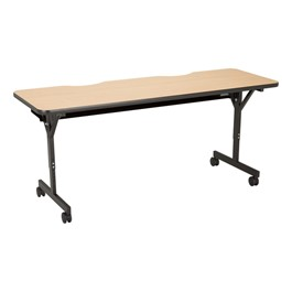 "Computer Table w/ HPL Top & T-Legs (72\"" W x 24\"" D) - Maple"