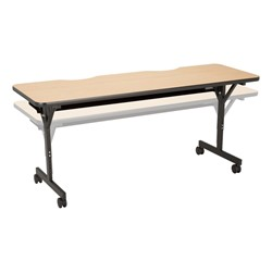 "Computer Table w/ HPL Top & T-Legs (72"" W x 24"" D) - Maple - Adjustability"