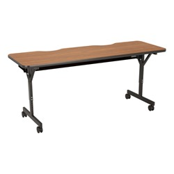 "Computer Table w/ HPL Top & T-Legs (72"" W x 24"" D) - Pecan"
