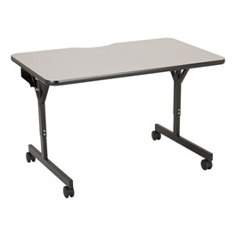 Adjustable-Height Computer Table w/ HPL Top & T-Legs