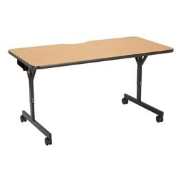 """Computer Table w/ HPL Top & T-Legs (60\"""" W x 30\"""" D) - Light Oak"""