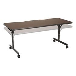 "Computer Table w/ HPL Top & T-Legs (72"" W x 30"" D) - Adjustability"