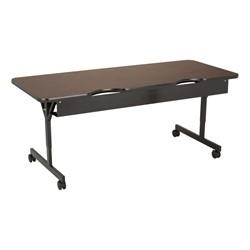 """Computer Table w/ HPL Top & T-Legs (72"""" W x 30"""" D) - Walnut - Back"""