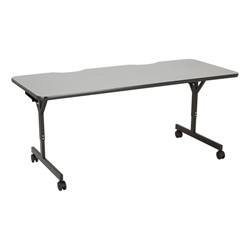 "Computer Table w/ HPL Top & T-Legs (72"" W x 30"" D) - Cosmic Strandz"