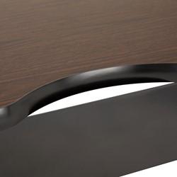 "Computer Table w/ HPL Top & T-Legs (72"" W x 30"" D) - Walnut - Wire Management"