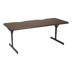 """Computer Table w/ HPL Top & T-Legs (72"""" W x 30"""" D) - Walnut - Glides"""