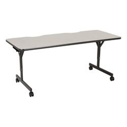 """Computer Table w/ HPL Top & T-Legs (72"""" W x 30"""" D) - Gray Nebula"""