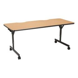 """Computer Table w/ HPL Top & T-Legs (72"""" W x 30"""" D) - Light Oak"""