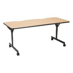"Computer Table w/ HPL Top & T-Legs (72"" W x 30"" D) - Maple"