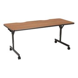 "Computer Table w/ HPL Top & T-Legs (72"" W x 30"" D) - Pecan"